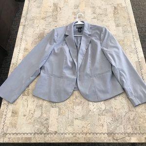 Lane Bryant Plus grey striped blazer size 18